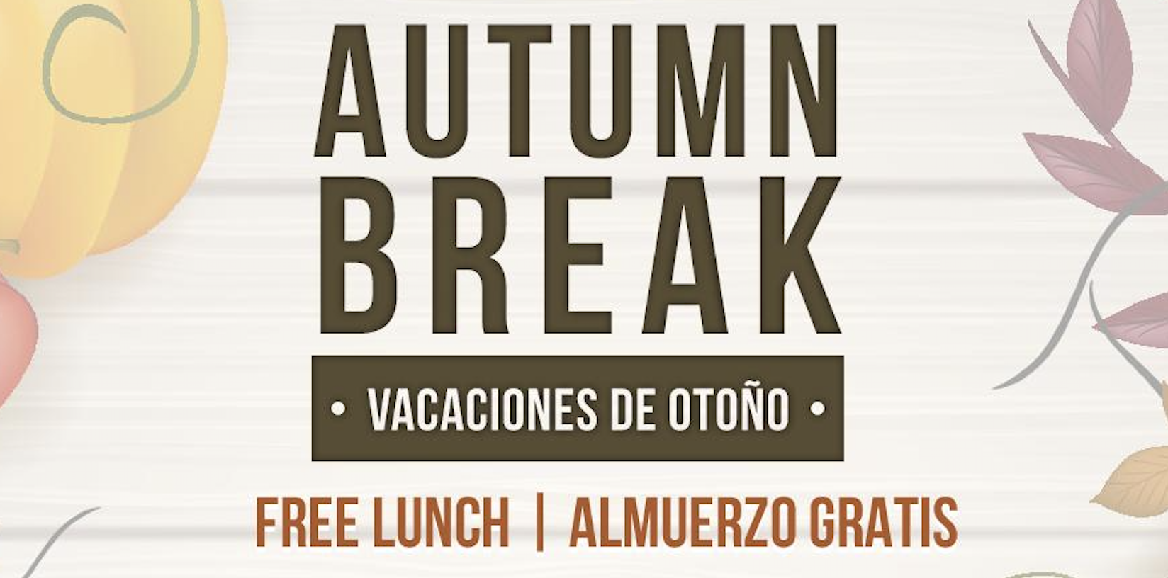 Autumn Break Free Lunches 2019